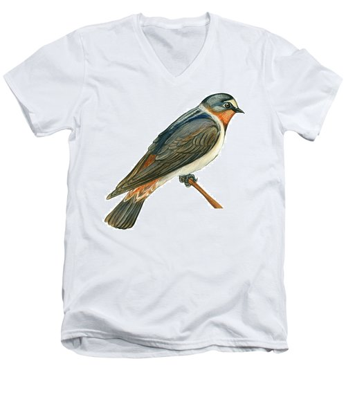 Cliff Swallow  Men's V-Neck T-Shirt by Anonymous