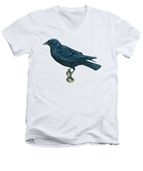 Crow Men's V-Neck T-Shirt by Anonymous
