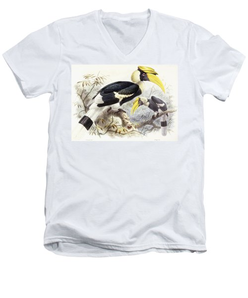 Dichocerus Bicornis Men's V-Neck T-Shirt by Johan Gerard Keulemans