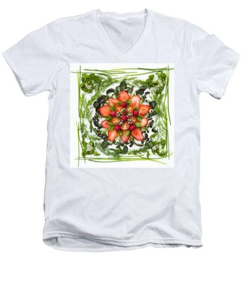 Fresh Fruit Salad Men's V-Neck T-Shirt by Anne Gilbert