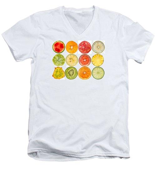 Fruit Market Men's V-Neck T-Shirt by Steve Gadomski