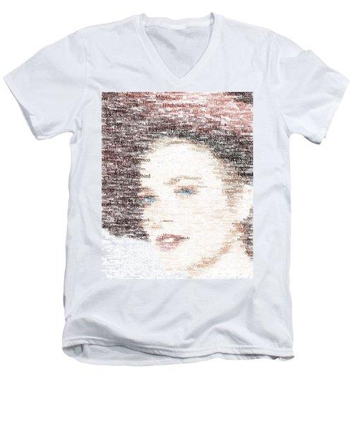 Grace Kelly Typo Men's V-Neck T-Shirt by Taylan Apukovska