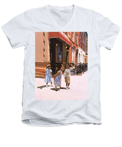 Harlem Jig Men's V-Neck T-Shirt by Colin Bootman