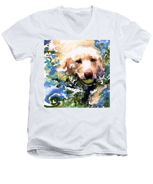 Head Above Water Men's V-Neck T-Shirt by Molly Poole
