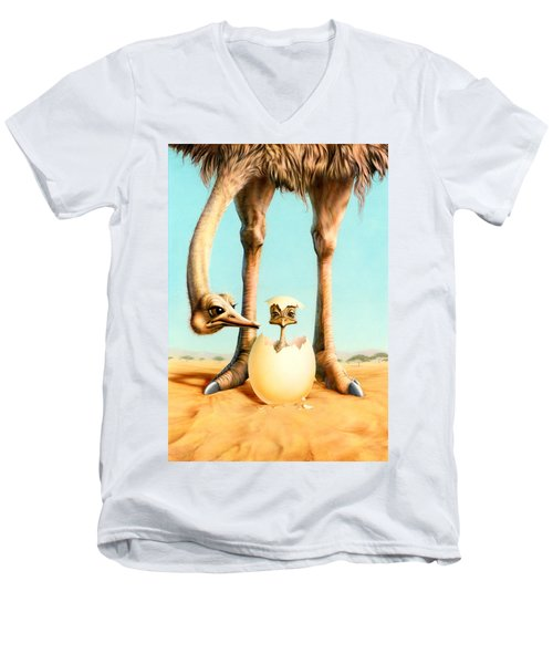 Hello Mum Men's V-Neck T-Shirt by Andrew Farley