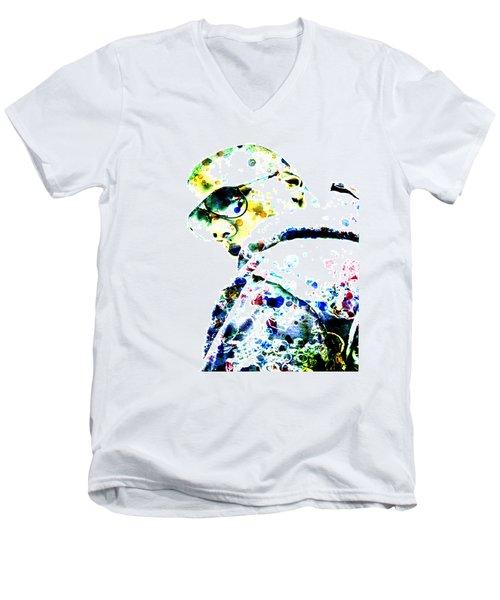 Jay Z Men's V-Neck T-Shirt by Brian Reaves