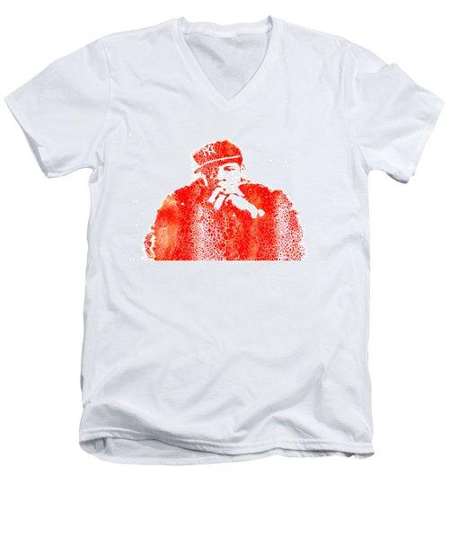 Jay Z Vibes Men's V-Neck T-Shirt by Brian Reaves
