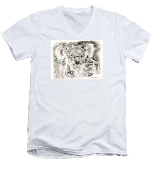 Koala Garage Girl Men's V-Neck T-Shirt by Remrov