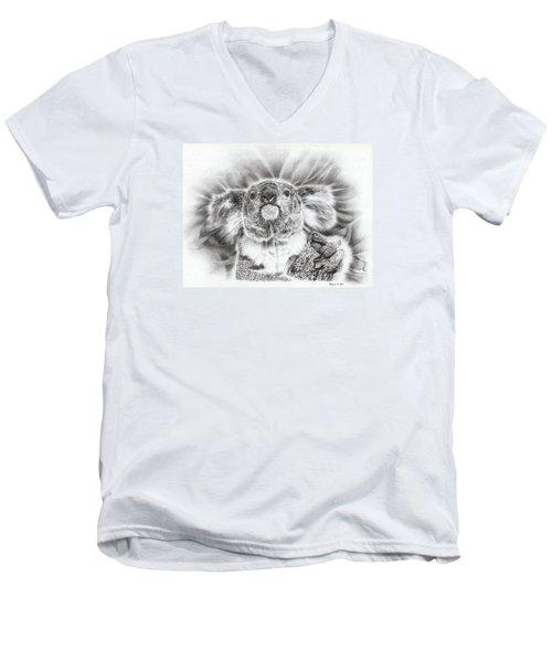 Koala Roto Princess Men's V-Neck T-Shirt by Remrov