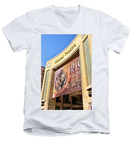 Kodak Theatre Men's V-Neck T-Shirt by Mariola Bitner
