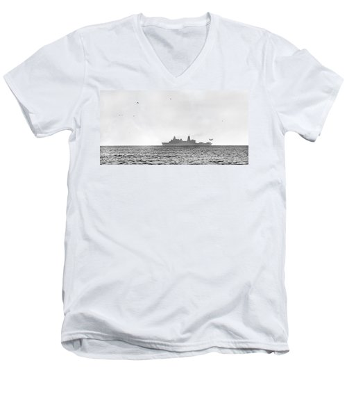 Landing On The Horizon Men's V-Neck T-Shirt by Betsy Knapp