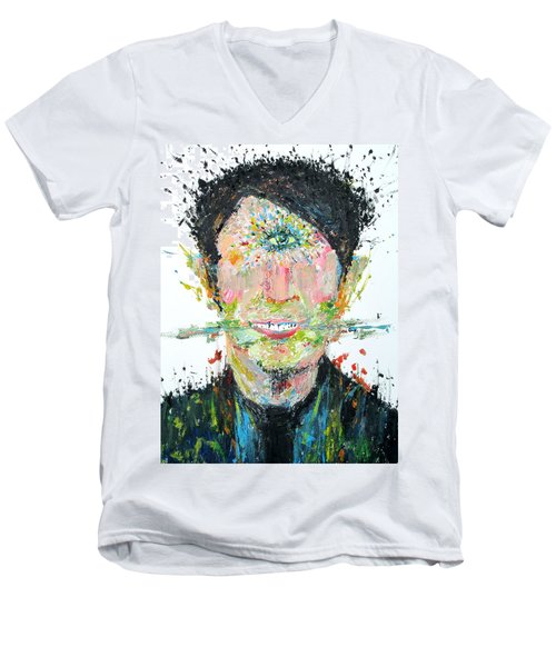 Love Me Do Men's V-Neck T-Shirt by Fabrizio Cassetta