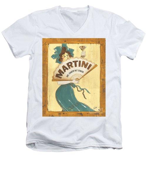 Martini Dry Men's V-Neck T-Shirt by Debbie DeWitt