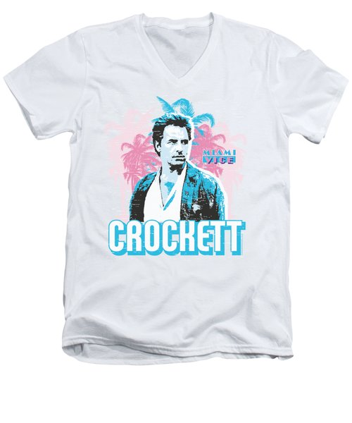 Miami Vice - Crockett Men's V-Neck T-Shirt by Brand A
