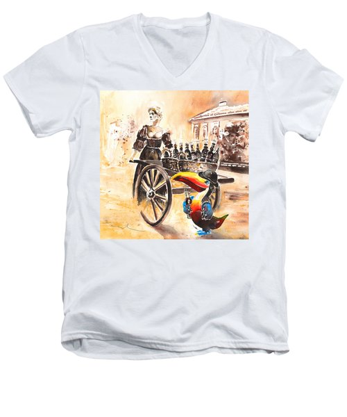 Molly Malone Men's V-Neck T-Shirt by Miki De Goodaboom
