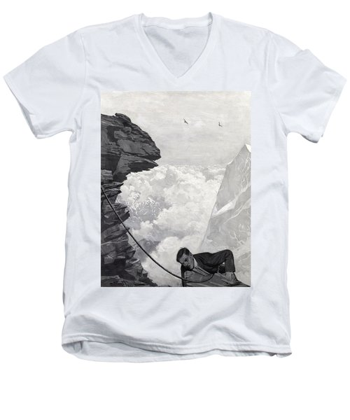 Nearly There Men's V-Neck T-Shirt by Arthur Herbert Buckland