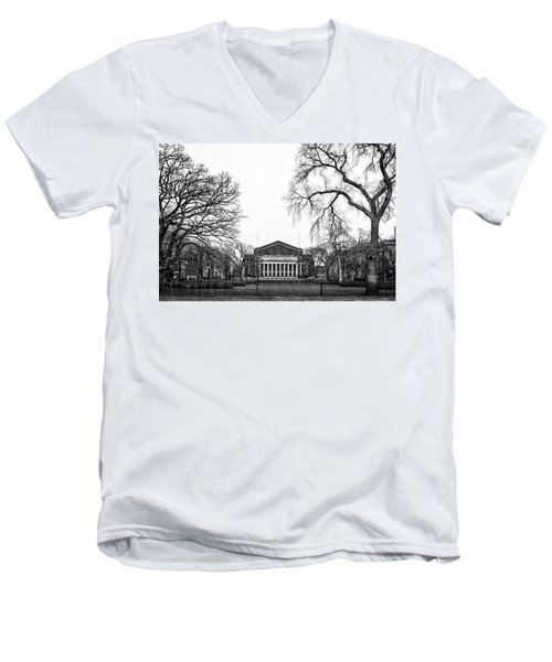 Northrop Auditorium At The University Of Minnesota Men's V-Neck T-Shirt by Tom Gort