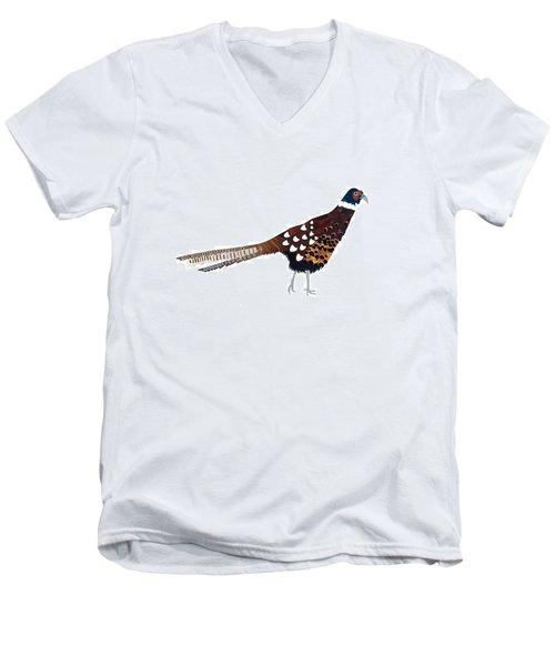 Pheasant Men's V-Neck T-Shirt by Isobel Barber
