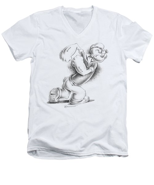 Popeye - Here Comes Trouble Men's V-Neck T-Shirt by Brand A