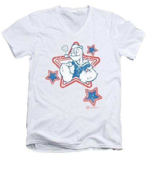 Popeye - Stars Men's V-Neck T-Shirt by Brand A