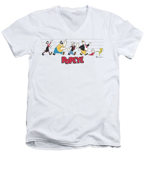 Popeye - The Usual Suspects Men's V-Neck T-Shirt by Brand A