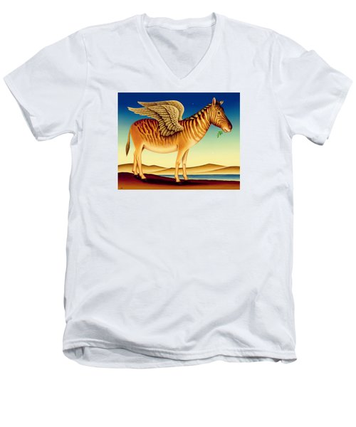 Quagga Men's V-Neck T-Shirt by Frances Broomfield