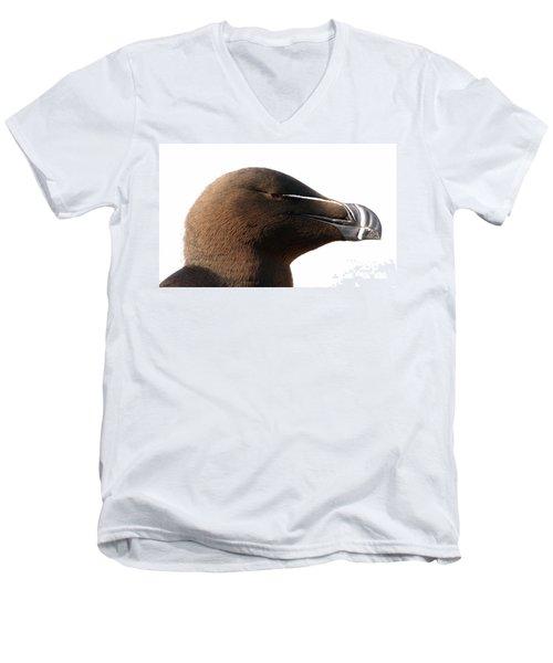 Razorbill Auk Men's V-Neck T-Shirt by Jeannette Hunt