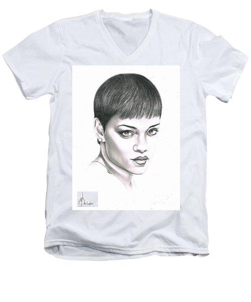 Rihanna Men's V-Neck T-Shirt by Murphy Elliott