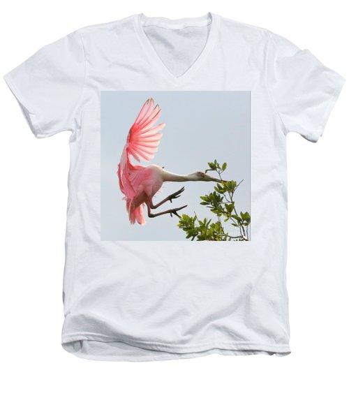 Rough Landing Men's V-Neck T-Shirt by Carol Groenen