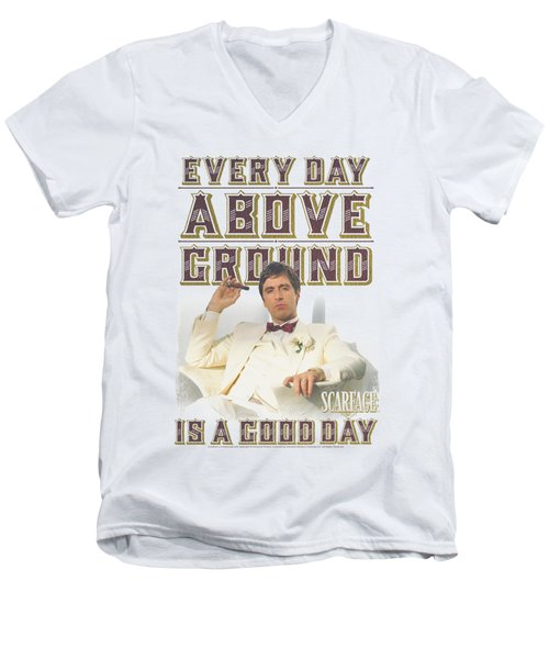 Scarface - Above Ground Men's V-Neck T-Shirt by Brand A