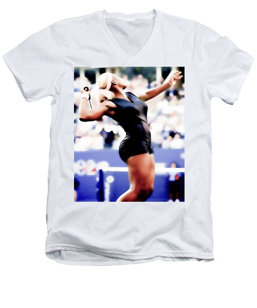 Serena Williams Catsuit Men's V-Neck T-Shirt by Brian Reaves