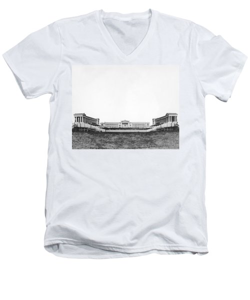 Soldiers' Field And Museum Men's V-Neck T-Shirt by Underwood Archives
