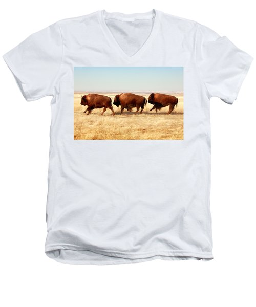 Tatanka Men's V-Neck T-Shirt by Todd Klassy