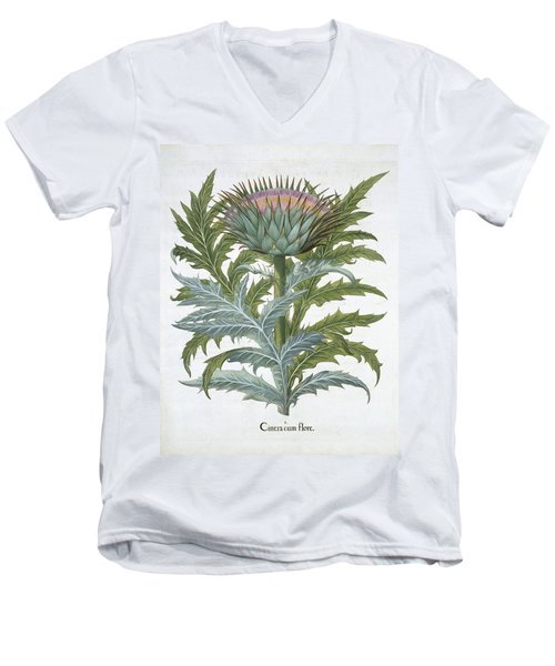 The Cardoon, From The Hortus Men's V-Neck T-Shirt by German School