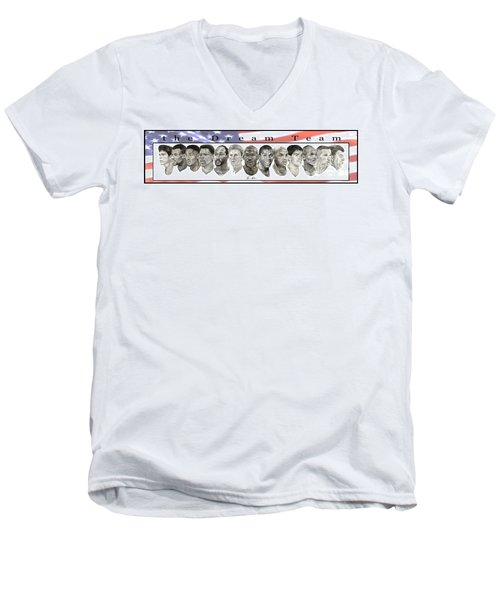 the Dream Team Men's V-Neck T-Shirt by Tamir Barkan