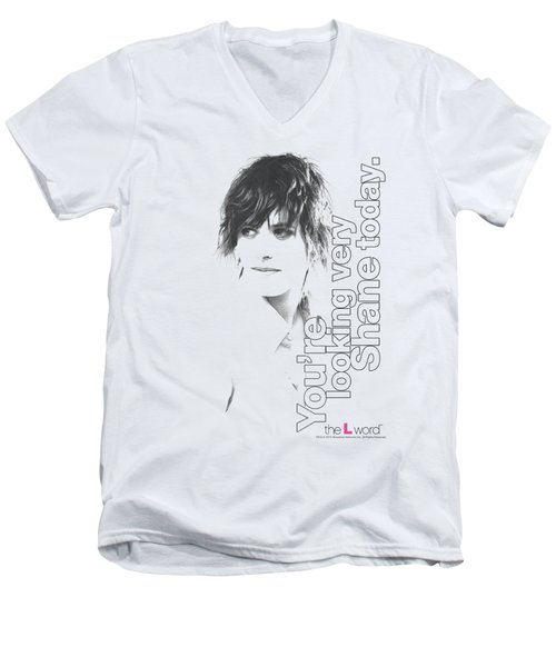 The L Word - Looking Shane Today Men's V-Neck T-Shirt by Brand A