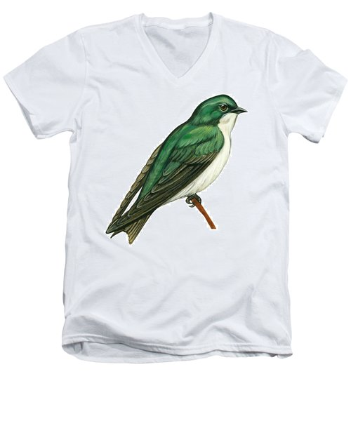 Tree Swallow  Men's V-Neck T-Shirt by Anonymous