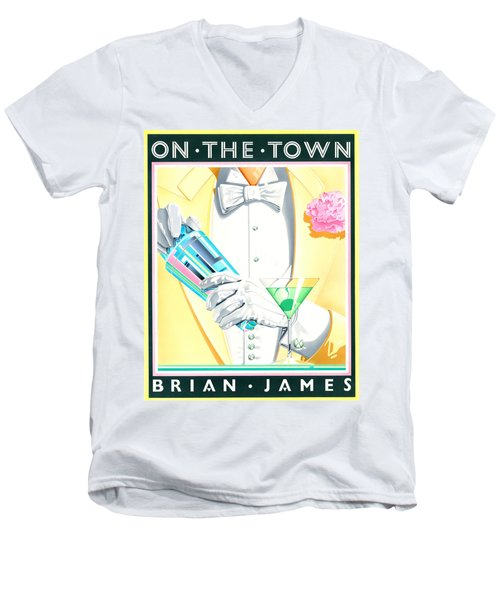 Untitled Men's V-Neck T-Shirt by Brian James