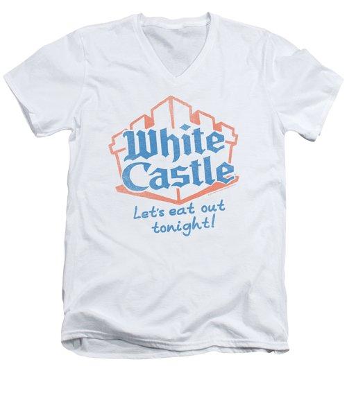 White Castle - Lets Eat Men's V-Neck T-Shirt by Brand A