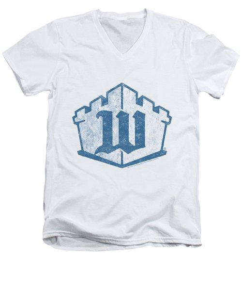 White Castle - Monogram Men's V-Neck T-Shirt by Brand A