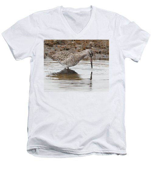 Willet Men's V-Neck T-Shirt by Bill Wakeley