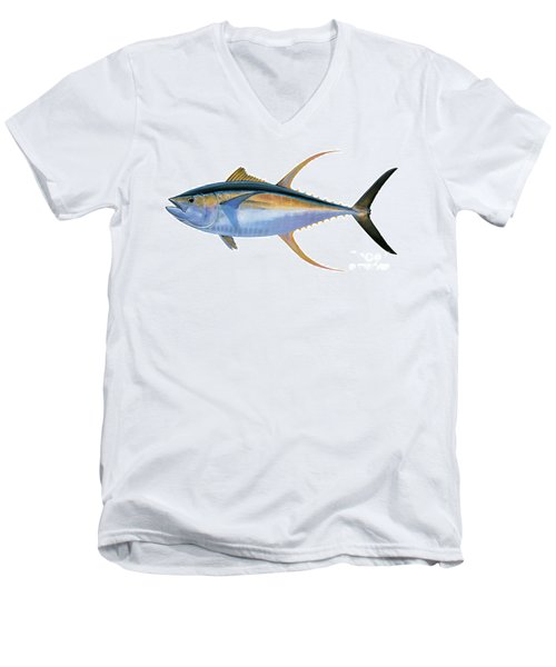 Yellowfin Tuna Men's V-Neck T-Shirt by Carey Chen
