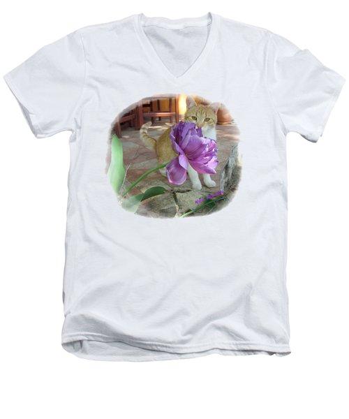 You See Me Men's V-Neck T-Shirt by Vesna Martinjak