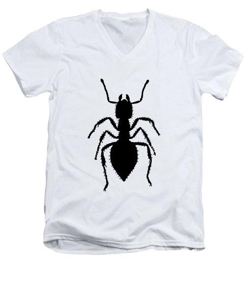 Ant Men's V-Neck T-Shirt by Mordax Furittus