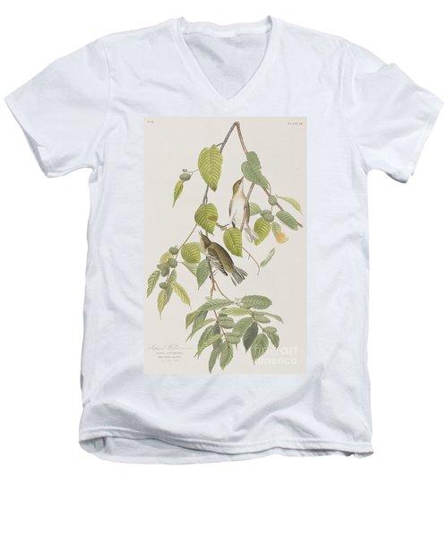Autumnal Warbler Men's V-Neck T-Shirt by John James Audubon