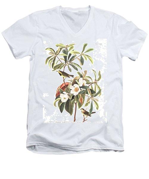 Bachman's Warbler  Men's V-Neck T-Shirt by John James Audubon