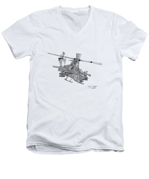 Bell Ah-1z Viper Men's V-Neck T-Shirt by Arthur Eggers