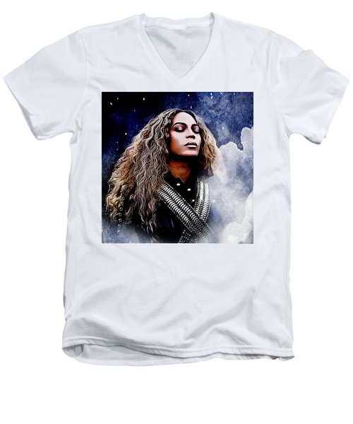 Beyonce  Men's V-Neck T-Shirt by The DigArtisT