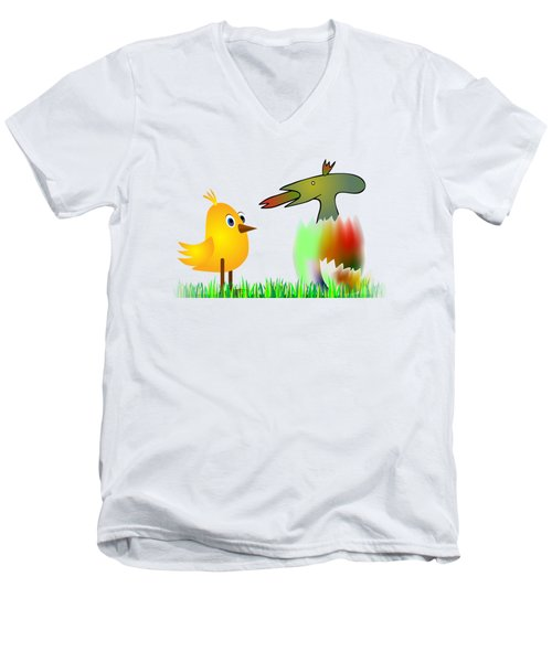Close Encounters Of The Third Kind Men's V-Neck T-Shirt by Michal Boubin