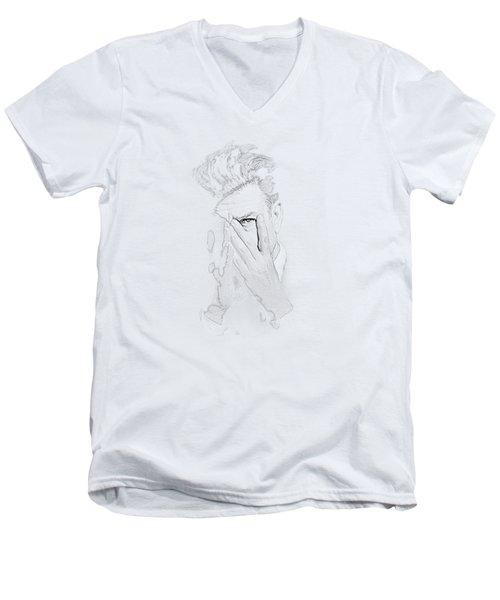 David Lynch Hands Men's V-Neck T-Shirt by Yo Pedro